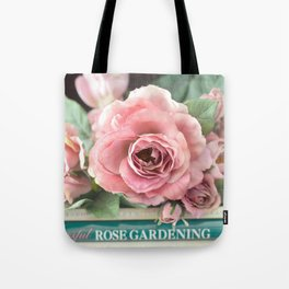 Roses Pink Peach Romantic Rose Flowers Gardening Decor Tote Bag