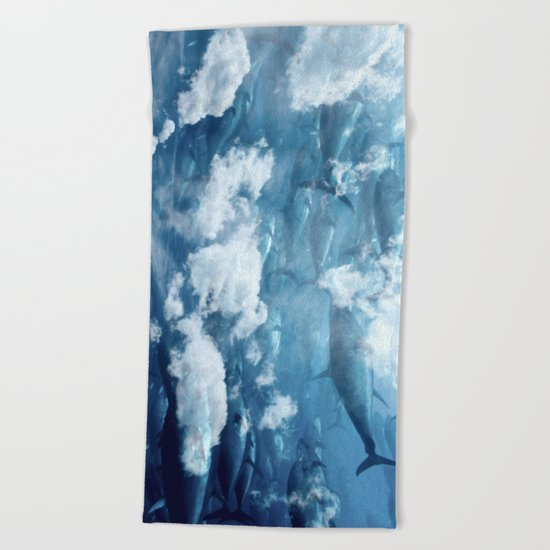 Tuna skies Beach Towel