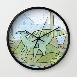 Duck-billed Dinosaur, Parasaurolophus Wall Clock