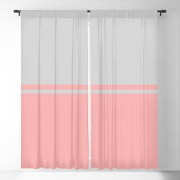 Solid&Solid: Pink + Grey Blackout Curtain