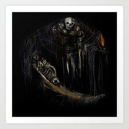 Gravelord Nito - Dark Souls (black tee PNG edition) Art Print