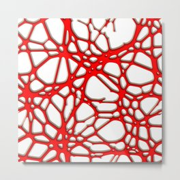 Hot Web red Metal Print