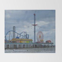 Pleasure Pier - Galveston Texas Throw Blanket