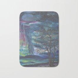 Starry Sky with Aurora Borealis Bath Mat