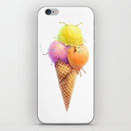 Illustration ice cream cone iPhone Skin