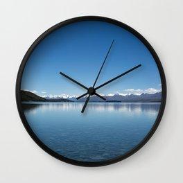 Blue line landscape Wall Clock