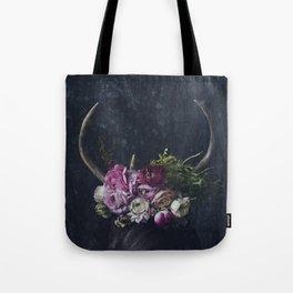 Antlers + Flowers Tote Bag