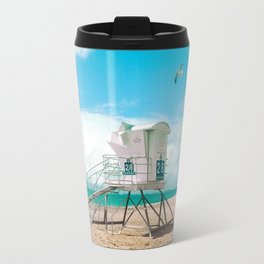 Lifeguard Tower - California beach Travel Mug
