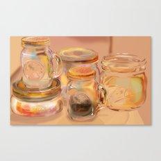Mason Jars Canvas Print