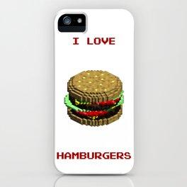 I love hamburgers iPhone Case