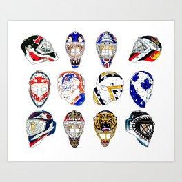 12 Masks Art Print