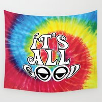 hippy Wall Tapestries featuring Hippy by Top Head Culture