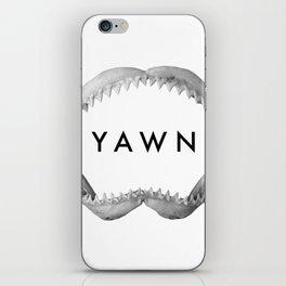 Yawn iPhone Skin