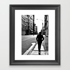 City Walk Framed Art Print