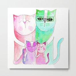 Haddad Cats Metal Print