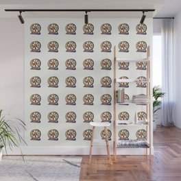 Cute Funny Hamster Pattern Illustration Wall Mural