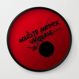 Hole To Another Universe Wall Clock