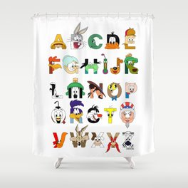 That's Alphabet Folks Shower Curtain
