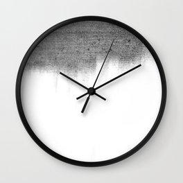 Urban Concrete White Wash Wall Clock
