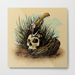Prepare your hearts for Death's cold hand! Metal Print