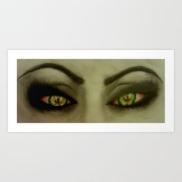 High Eyes Art Print