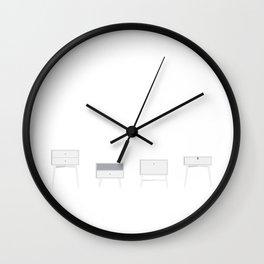 Retro nightstands Wall Clock