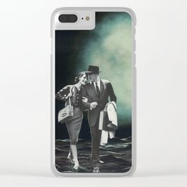 Moon Strolling Clear iPhone Case