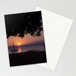 Sunset with Boat Stationery Cards