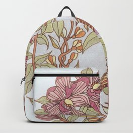 Magnolia And Marigold Wreath With Songbird Backpack