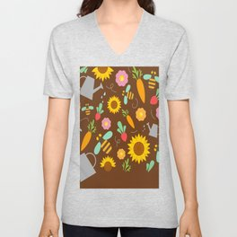 New Weather Pattern With Umbrellas Unisex V-Neck