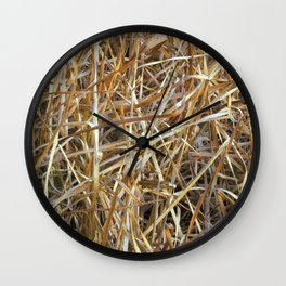 Dry Grass Wall Clock