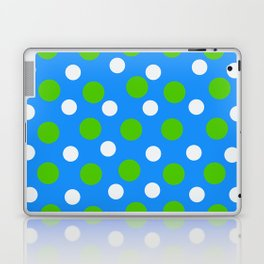 Blue with green and white dots Laptop & iPad Skin