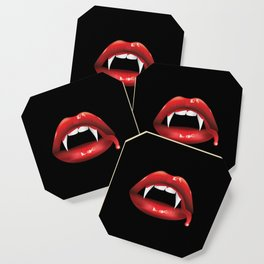 Vampire lips with blood Coaster