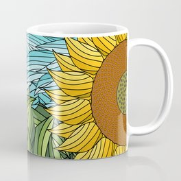 SUNNY DAY (abstract flowers) Coffee Mug