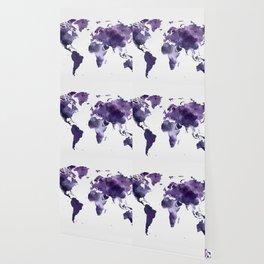 Purple World Map Wallpaper