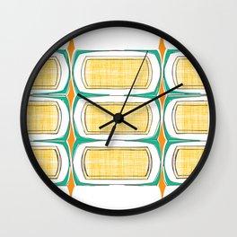 mid mod pattern 3 Wall Clock