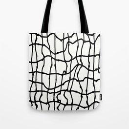 Melting Grid Pattern Tote Bag
