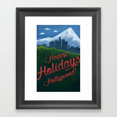 Happy Holidays from Hollywood! Framed Art Print