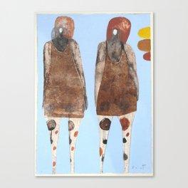Body Talking Canvas Print