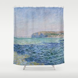 Shadows on the Sea at Pourville by Claude Monet Shower Curtain