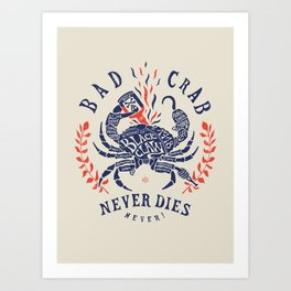 Bad crab Art Print