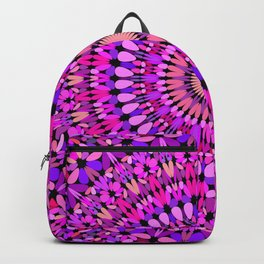 Pink and Purple Gravel Mandala Backpack