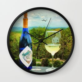 Wine and a View Wall Clock