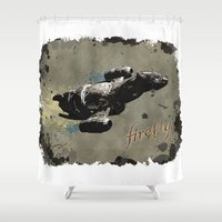 firefly Shower Curtains featuring Firefly by Ralf Crawford