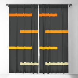 Abstract Minimal Retro Stripes Ashtanga Blackout Curtain