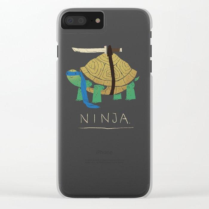 ninja - blue Clear iPhone Case
