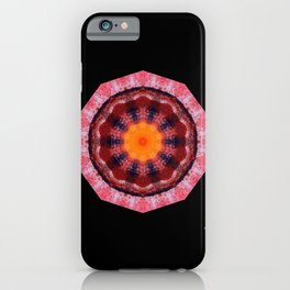 Kaleidoscope Red iPhone Case