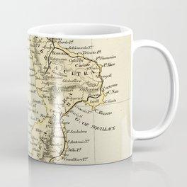 Vintage Retro Map Southern Italy Coffee Mug