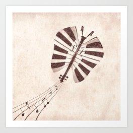 Butterfly Jazz Art Print