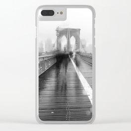 Brooklyn Bridge and Rain Clear iPhone Case